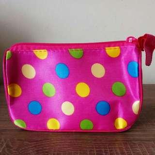 Mini Pouch Pink Polkadot