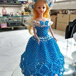 Barbie doll beads skirt made with beads.  Items is made to order.  Anyone interested please whatsapp me at 96377655