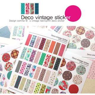 6 SHEETS neofabric stickers free postage