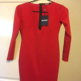 Miss Guided Red Dress