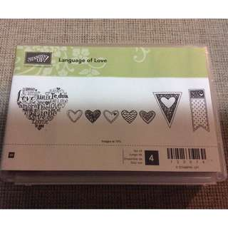 Stampin' Up! Language of Love Wood Mount Stamp Set NEW