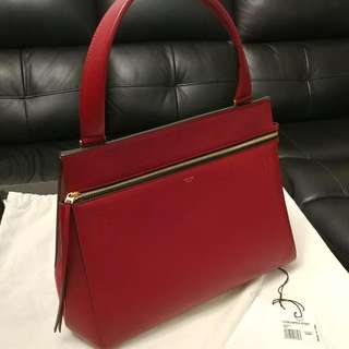 Celine Edge Shoulder Bag Red Handbag