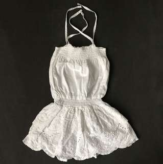 Seed white dress size (1-2)