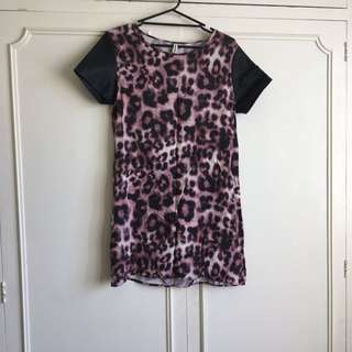 All About Eve Tshirt Dress - Leopard: size 12