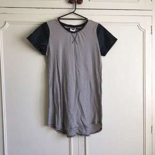 All About Eve Tshirt Dress - Stripe: size 12
