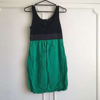 Pagani Bubble Dress - Black and green: size 10