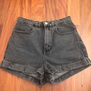 American Apparel Acid Wash Denim Shorts Size 10