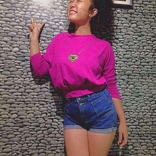 Hotpink Crop Sweater/pullover