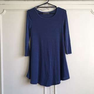 Temt Flare Dress - Blue: size S