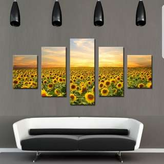 Sunflower Painting Canvas (No Frame)