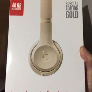 Brand New Authentic Monster Studio 3 Beats Headphones Special Edition Gold