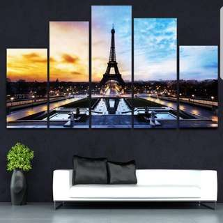 Paris Canvas Painting (No Frame)
