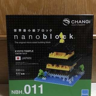 BNIB Nanoblock NBH_011 Kyoto Temple