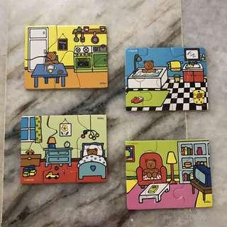 """Vilac(France since 1911) """"La Maison"""" wooden puzzle"""