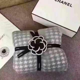 Chanel 千鳥格圍巾