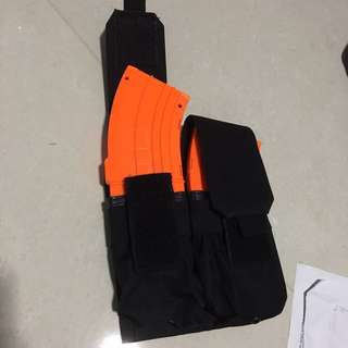 BNIB black tactical pouch for nerf mag