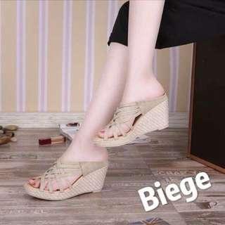 Beige wedge