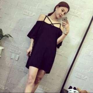 Mini Criss Cross Black Dress