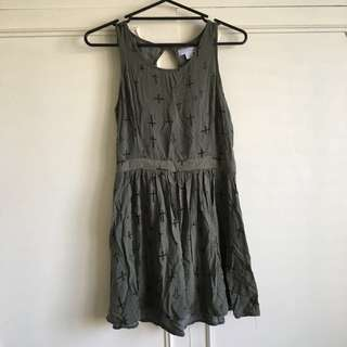 Cotton On Summer Cross Dress - Camo Green: size M