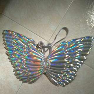 Silver wings angel costume