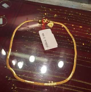 Authentic 916 gold ankle chain (rantai kaki emas)