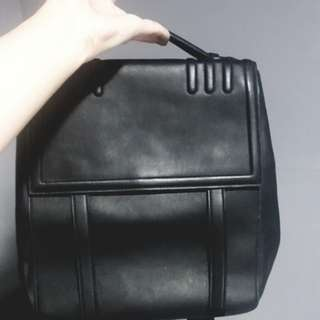 Charles and Keith Black Leather Backpack w/ tag
