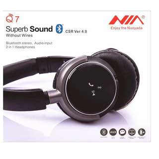 Super Sound Surround Superbass NIA Q7 Wireless Headphones Superb Sound