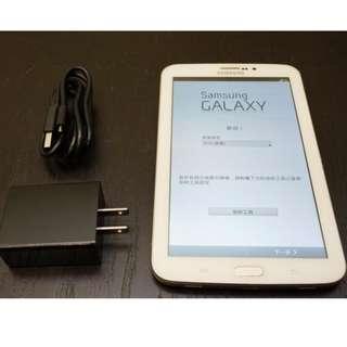 三星 Samsung Galaxy TAB 3 WiFi 8g 7 吋 平板 電腦 白色