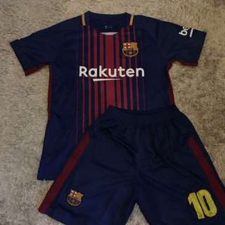 NEW 2018 Barcelona Jersey Red & Blue Youth #10 Messi Kids Set Jersey And Shorts