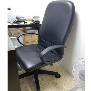 Office High Back Roller Chair x 2 (Black)