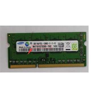 【SAMSUNG三星】•  8GB 。DDR3L。 1600MHz內存記憶卡