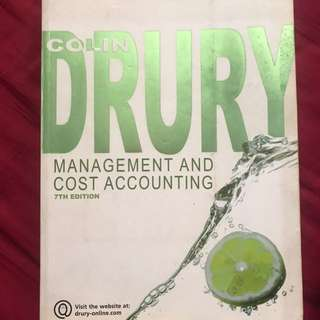 Management and Cost Accounting by Drury Colin