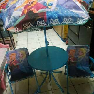Disney Frozen patio set and wooden study table