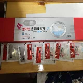 $40 韓國LALA洗鞋神器(洗鞋袋+ 清潔劑x 8包入)
