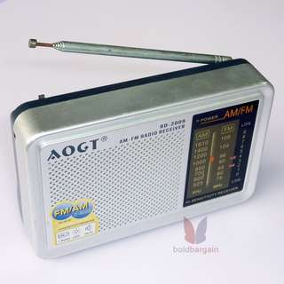 Portbable AM FM Radio Receiver AOGT RD-2009
