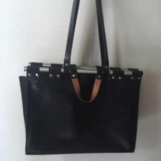 Zara studio faux leather doctor bag