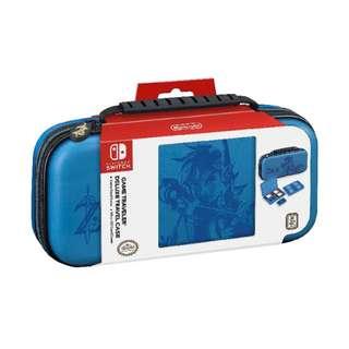 Nintendo Switch Game Traveler Deluxe Travel Case- Zelda Breath of the Wild – Link – Blue