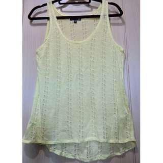 Cotton On Yellow Sleeveless Top Size SMALL