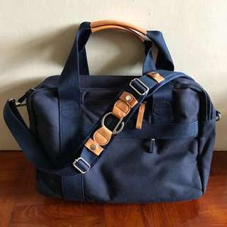 Mint Qwstion Office Bag Organic Navy