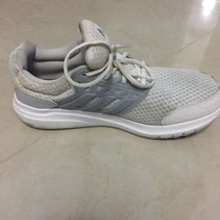 White Adidas Running Shoes (cloudfoam)