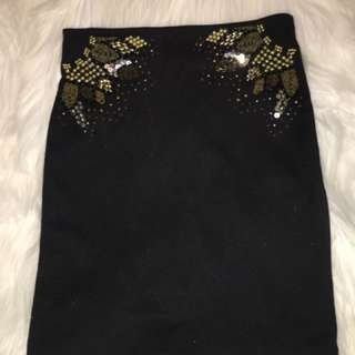 Bardot Black Skirt