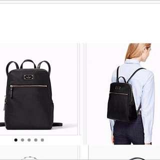 Black Kate Spade Backpack Bag 黑色袋 雙肩背包背囊