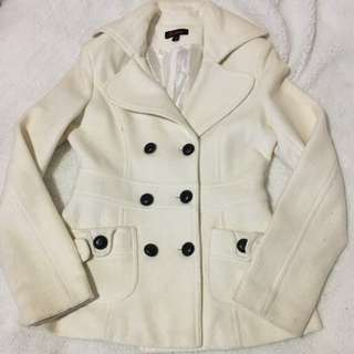 Cream coat size 8