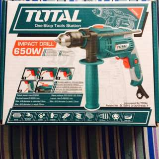Total drill with hammer