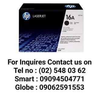 HP 16A BLACK ORIGINAL LASERJET TONER CARTRIDGE (Q7516A)