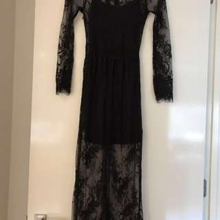 Long Formal Lace Dress