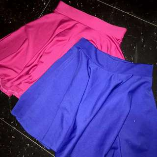 [BUNDLE] 2 Blue and Pink Skater Skirt