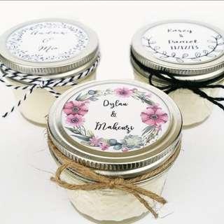 Candle jar souvenirs