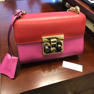 Gucci Padlock Leather Shoulder Mini Bag