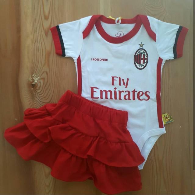 2017 18 Ac Milan Away Baby Girl Set Babies Kids Babies Apparel On Carousell